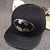 Кепка снепбек Бетмен з прямим козирком Чорна, Унісекс
