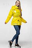 Модная лаковая зимняя куртка-парка с поясом, оверсайз, фото 4