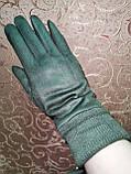 Замш на манжете с Арктический бархат женские перчатки стильные только опт, фото 2