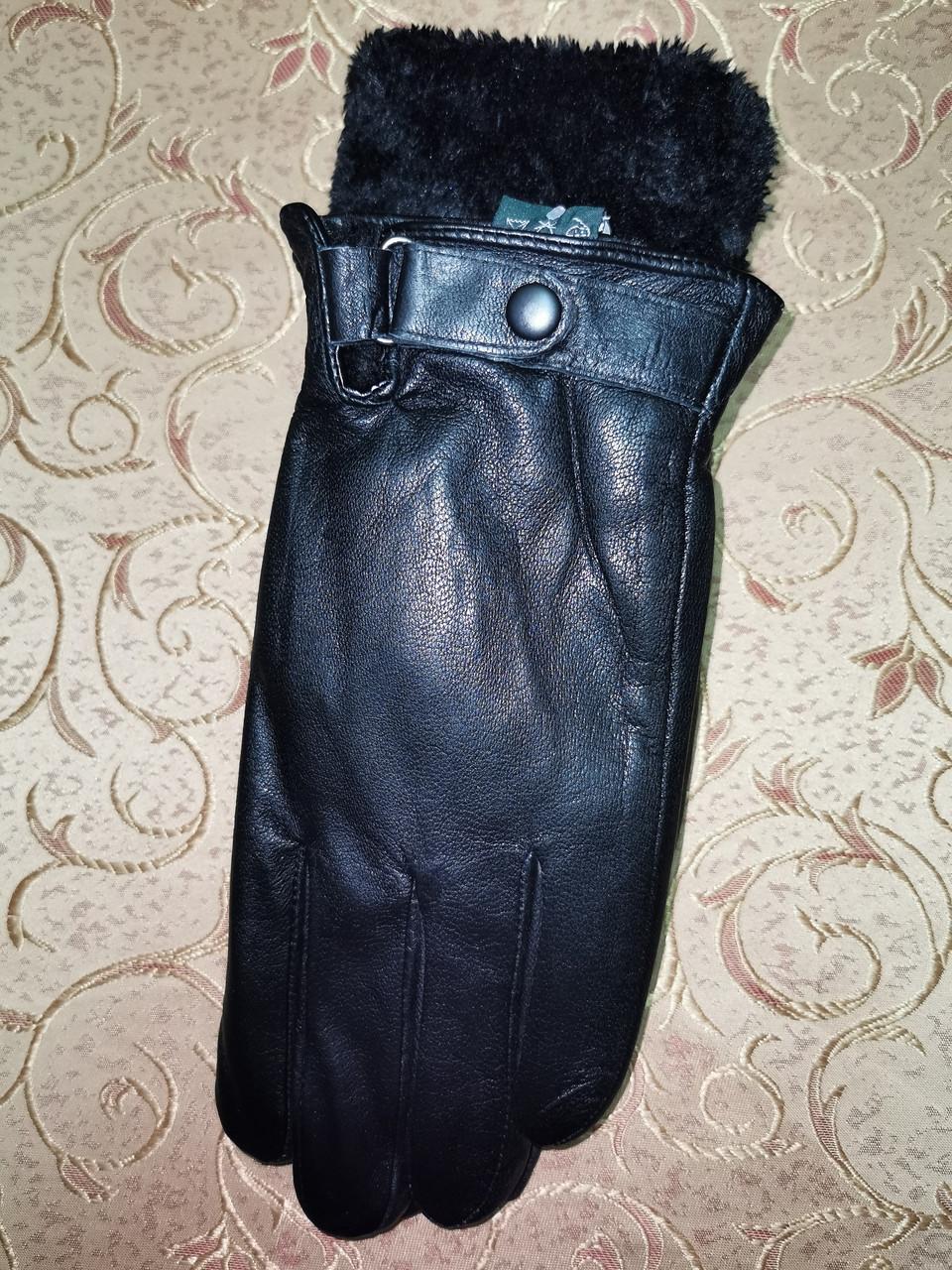 Кожа натуральная с Арктический бархат мужские перчатки только оптом