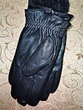Кожа натуральная с Арктический бархат мужские перчатки только оптом, фото 3