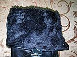 Кожа натуральная с Арктический бархат мужские перчатки только оптом, фото 4