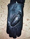 Кожа натуральная с Арктический бархат мужские перчатки только оптом, фото 2