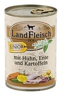 LandFleisch консервы для щенков с курицей, уткой и картофелем