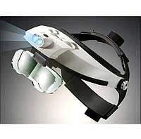 Бинокулярная лупа с LED подсветкой MAGNIFIER 81001-H Увеличение 1X — 6X