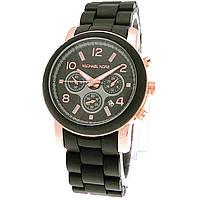 Женские (Мужские) кварцевые наручные часы копия Michael Kors на пластиковом ремешке, фото 1