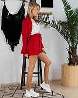 Костюмчик тройка (шорты и пиджак красный, майка белая, ткань - габардин) Размер S, M, L (розница и опт)