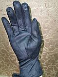 Замшс Арктический бархат с сенсором женские перчатки для работы на телефоне плоншете стильные только опт, фото 5