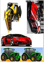 Вафельная картинка машины авто
