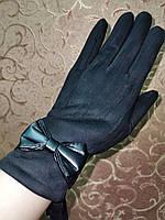 Замшс Арктический бархат с сенсором женские перчатки для работы на телефоне плоншете стильные только опт, фото 1