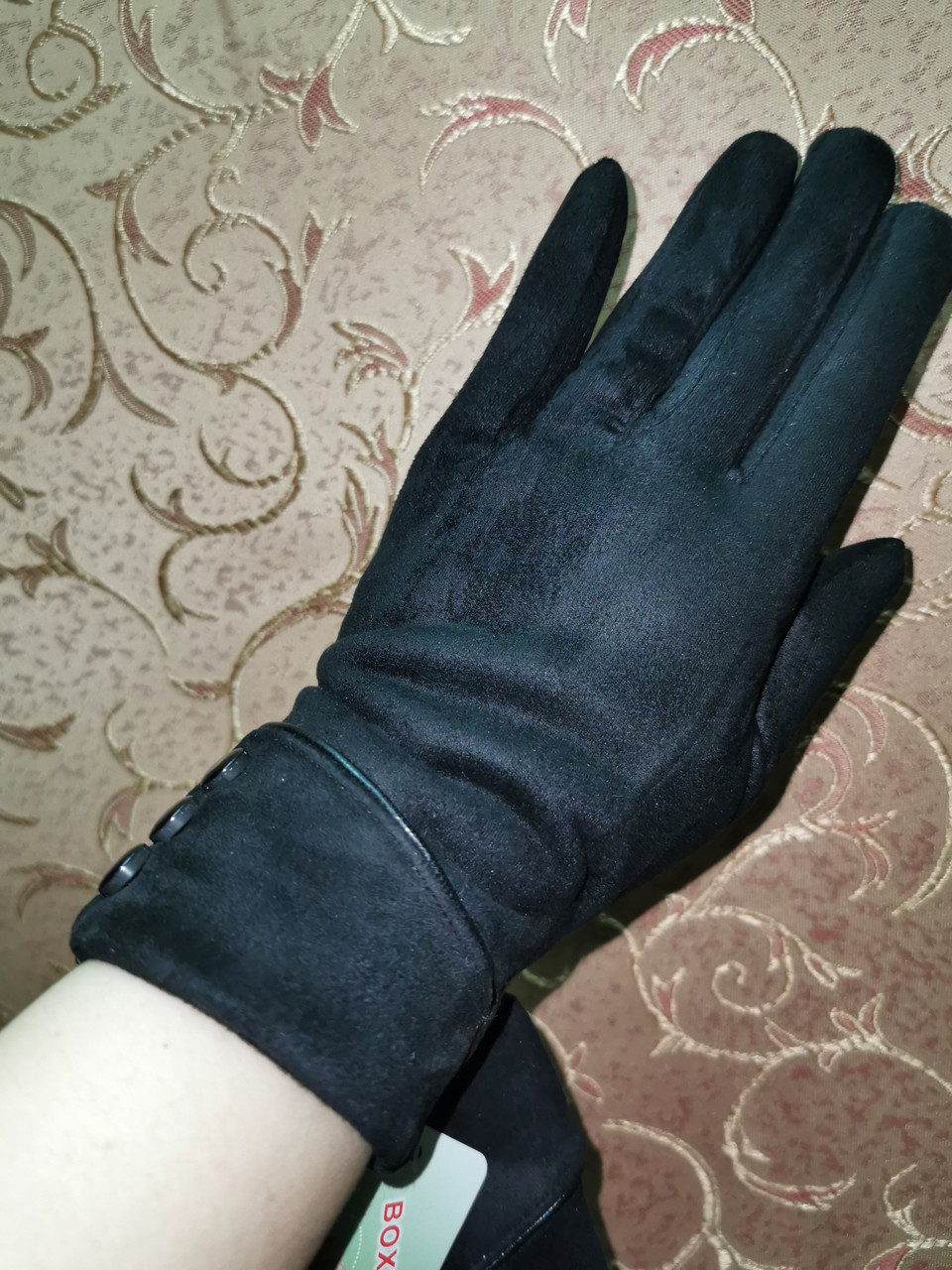 Замшс Арктический бархат с сенсором женские перчатки для работы на телефоне плоншете стильные только опт