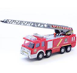 Пожарная машина с лестницей (свет, звук, стреляет водой) Big Motors SY732