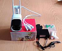 Поворотна smart Wi-Fi камера HD 1080p 4X Zoom IP66 з датчиком руху