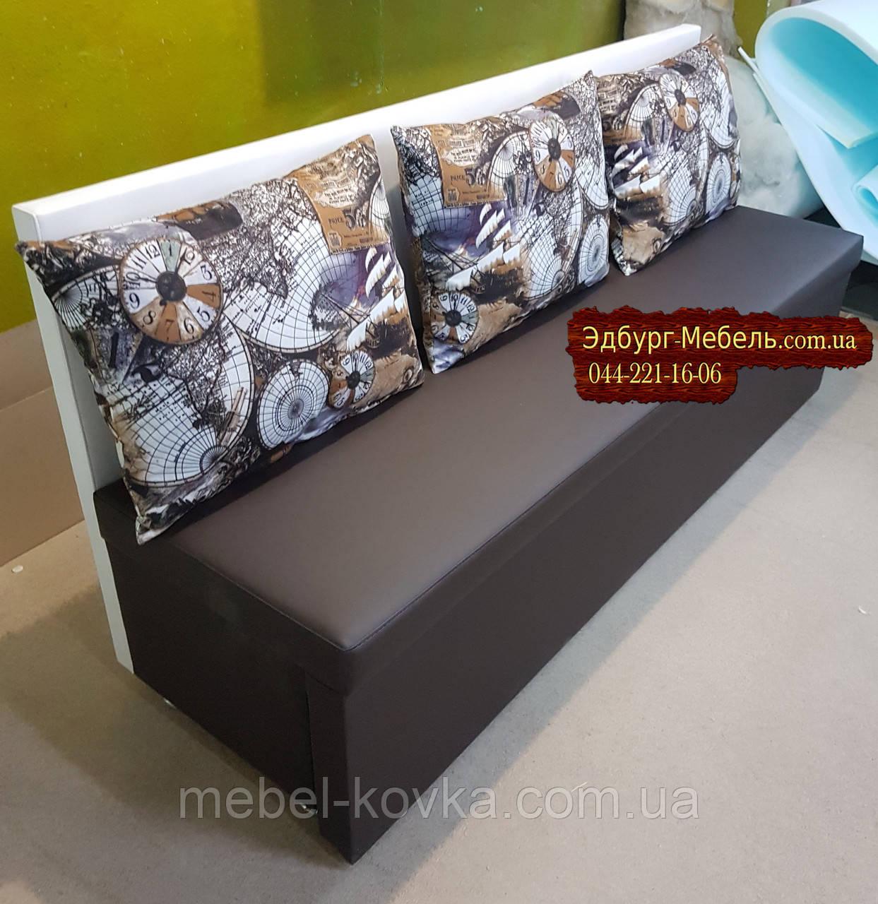 Диван для узкой кухни, коридора с ящиком + спальным местом 1800х600х800мм