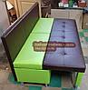 Диван для вузької кухні, коридору з ящиком + спальним місцем 1800х600х850мм, фото 7