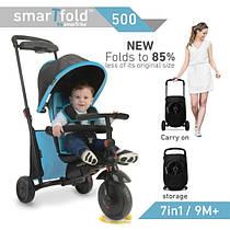 Smart Trike SmarTfold 500 трехколесный велосипед, цвет голубой