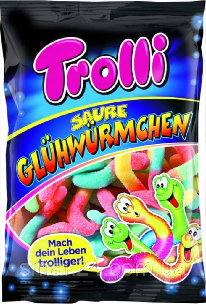 Желейные конфеты Trolli Saure Gluhwurmchen кислые светлячки Германия 200г