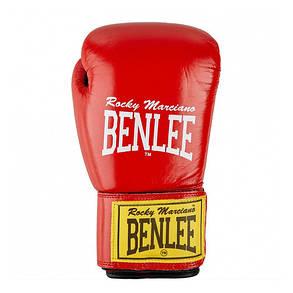 Боксерские перчатки BENLEE Fighter 8 ун. (194006/2514) Красный/Черный, фото 2
