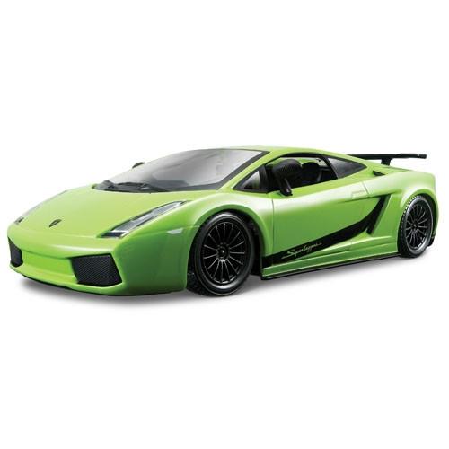 Автомодель Bburago - Lamborghini Gallardo Superleggera 2007, ассорти зеленый, оранжевый металлик, 1:24