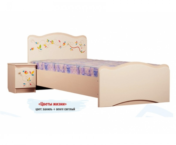 """Вальтер Кровать """"Цветы жизни"""" (без ящиков, 90 х 190 см)"""