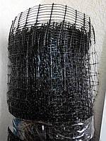 Сетка вольерная / сітка для огородження 1х20м (для птичников) ячейка 10х10мм (черная)