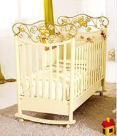 Детская кроватка Baby Expert Perla Panna/gold