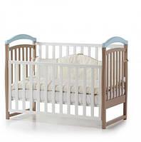 Детская кроватка Верес Соня ЛД 6, цвет капучино/голубой