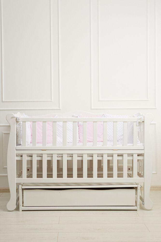 """Детская кроватка Гойдалка """"Natali"""" (откид.бок, ящ.), в ассортименте"""