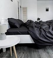 Постельное белье Страйп-сатин BLACK (Турция)