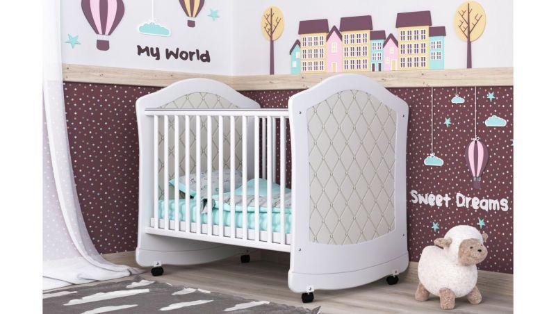 Детская кроватка Сиди М Glamour (регулируемый бортик, ящик), в ассортименте