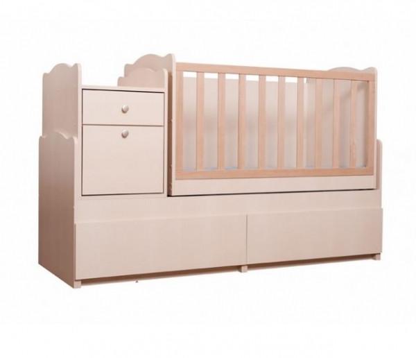 """Детская кроватка-трансформер Вальтер """"Дадон"""", цвет светлый"""