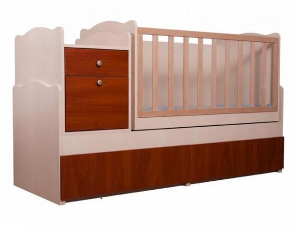 """Детская кроватка-трансформер Вальтер """"Дадон"""", цвет светлый-светлый орех"""