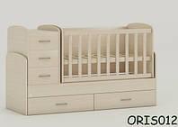 Детская кровать-трансформер Oris Maya, цвет дуб молочный