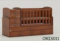 Детская кровать-трансформер Oris Maya, цвет орех