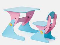 """Детская парта со стульчиком SportBaby """"Растишка"""", цвет розово/голубой"""