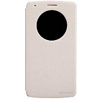 Кожаный чехол книжка Nillkin Sparkle для LG G3 золотистый, фото 1