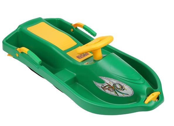 Детские санки Plastkon Snow Boat, цвет зеленый