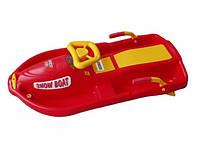 Детские санки Plastkon Snow Boat, цвет красный