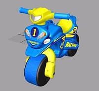 "Детский беговел-мотоцикл ""МотоБайк Спорт"" (звук), цвет сине-желтый"