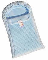 Детский конверт Twins утепленный, цвет голубой