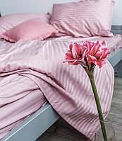 Постельное белье Страйп-сатин Пудрово-розовый  (Турция)