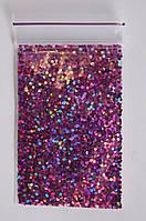 Средние шестигранник для дизайна ногтей (фиолет)