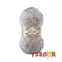 Alize Alpaca Tweed №684 пепельный меланж