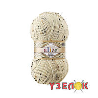 Alize Alpaca Tweed №01 кремовый