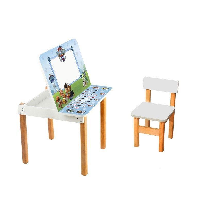 """Детский стол с мольбертом и стульчиком Финекс плюс """"Щенячий Патруль"""""""