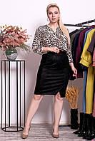 Костюм женский юбка блузка большие размеры - батал 48-62 ео10249