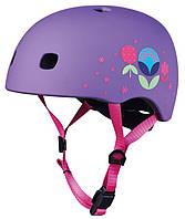 Детский шлем Micro Floral purple M (V2) AC2085