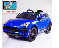 Детский электромобиль Porsche Cayenne style, цвет голубой