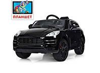 Детский электромобиль Porsche Cayenne style, цвет черный
