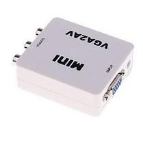 Конвертер VGA to AV (RCA) + доп. питание mini USB, фото 3